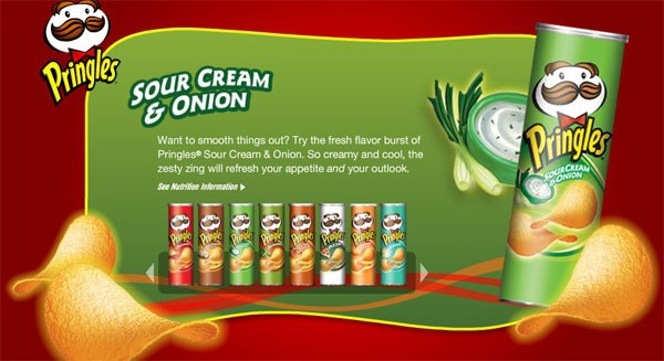 Pringles Snack Sour Cream & Onion Wholesale From USA