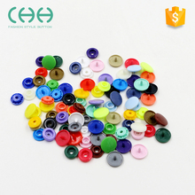 Wholesale dyeing round plastic shirt combined snap button with plastic fastener