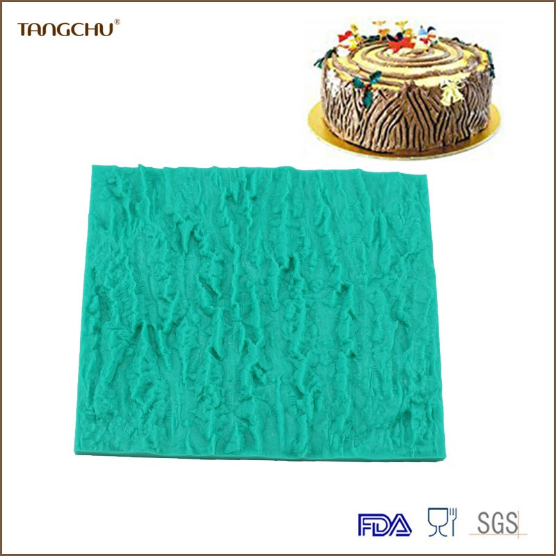 Bark grain shape Silicone Cake Decoration Mold