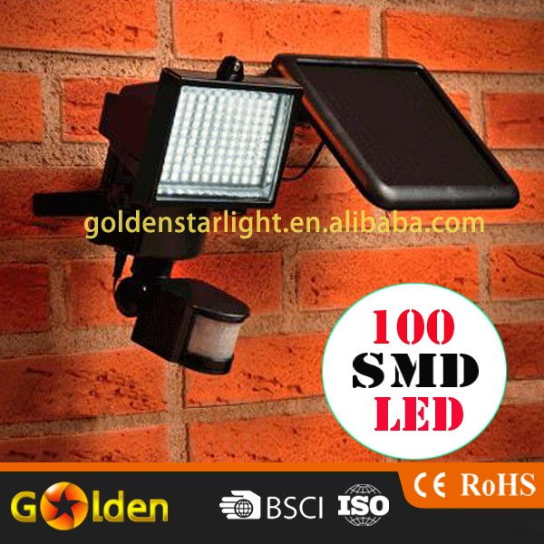 100 LED Adjustable All in One Solar Garden Light with Human sensor