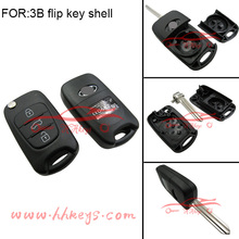 Car Key Shell for Hundai / K-IA Genesis Coupe Sonata Sonata remote key 3 Button Modified Flip Key Shell