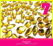 Whole Sale Flatback Acrylic Beads For Shoes Yellow Loose