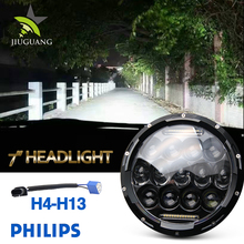 Wholesale Automotive Jeep Wrangler Led Headlamp 75W 7inch Led Headlight for Jeep Offroad TJ YJ XJ