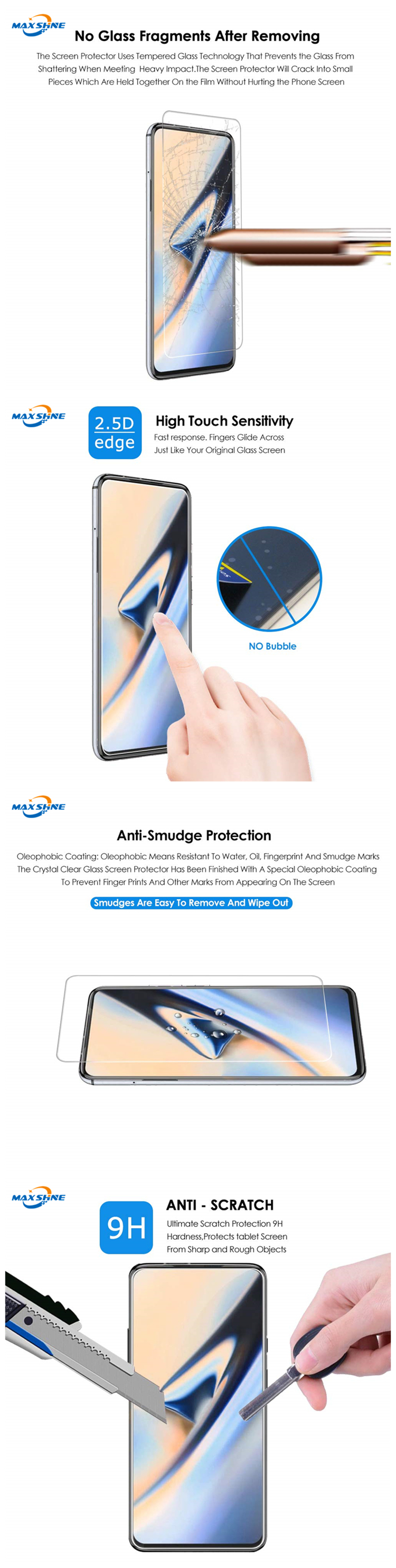 Wholesale Tempered Glass Screen Protector for xiaomi 6x a2