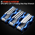 POWER ARROW Chrome Vanadium Aluminum handle Folding Hex key wrench set allen square key wrench
