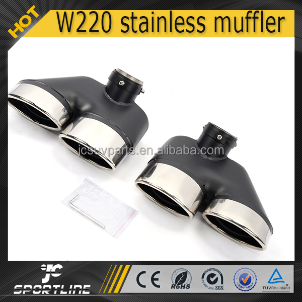 Car stainless steel AM style dual muffler exhaust pipe for Merdeces Ben z W220