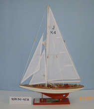 """Endeavour"" J Yacht Model, Length 45cm wooden sailboat model, 4 design J K 4 racing yacht sailing ship of Americas Cup"