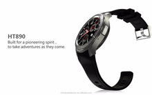 2016 Full round smart watch android os 3G WCDMA with heart rate smart watch phone