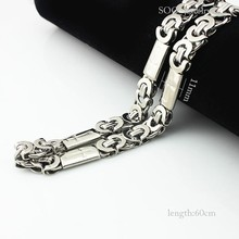 Religious Mens Jewelry Sets Stainless Steel Silver Jesus Cross Chains Link Necklace + Vintage Byzantine Cuff Bracelet Bangles