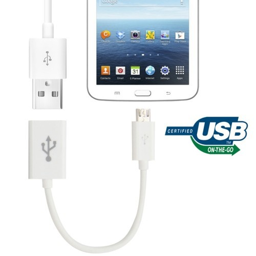 Micro USB OTG Connection Cable for Samsung Galaxy Tab 3 (8.0 / 10.1)