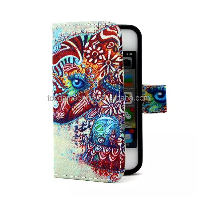Bulk cell phone case for Samsung Galaxy S5 9600 wallet leather case