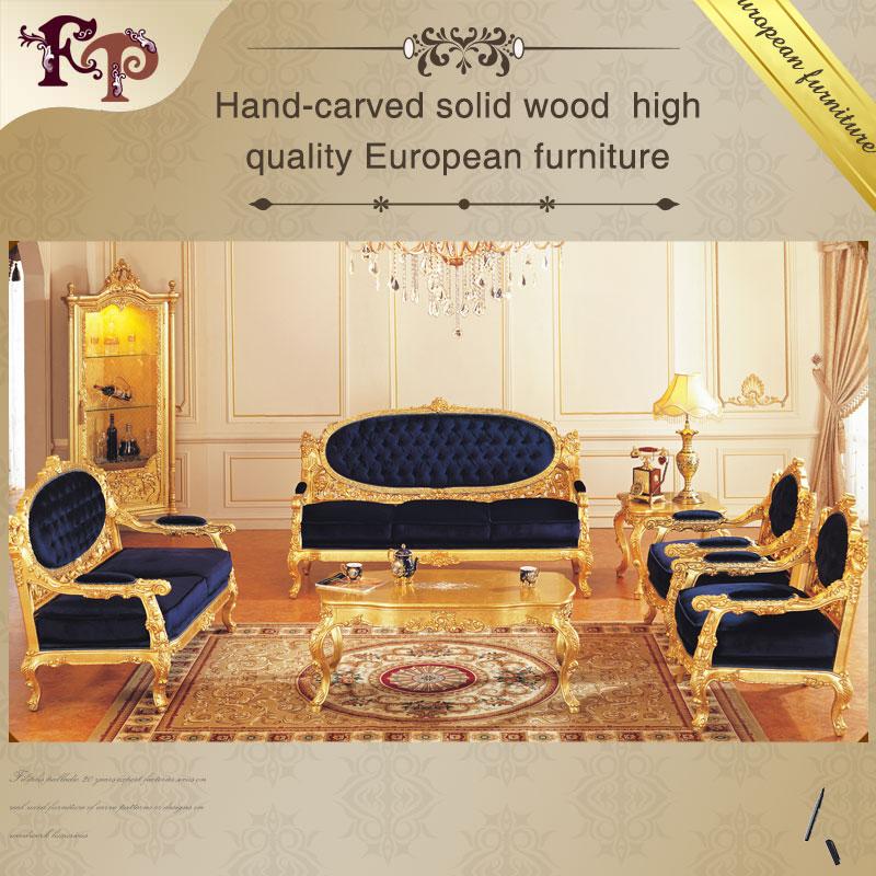 Muebles antiguos franc s todo hoja de oro sal n sof - Muebles de salon antiguos ...