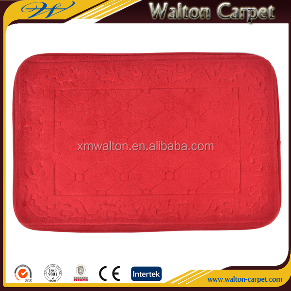 Anti slip coral fleece polyester memory foam kitchen mat