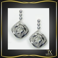 victorian rose cut diamond earrings