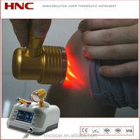 Cold laser pain therapy machine for soft tissue recovery, fracture healing, wounds, injuries, knee arthritis