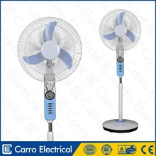 Excellent quality dc solar power 12v rechargeable battery stand pedestal fan