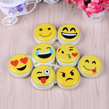 Tin round shape handbag emoji smile face print coin purse