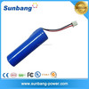high quality rechargeable 2200mah li ion 18650 3.7v battery for loudspeaker