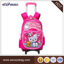 Two Wheels Hello Kitty Trolley Bag For School