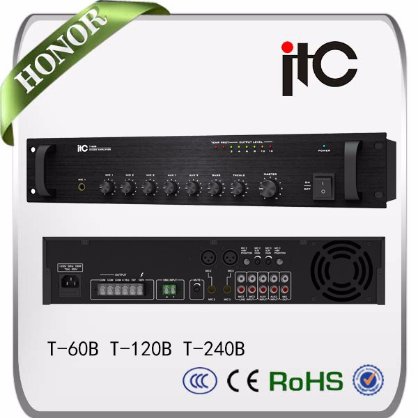 ITC 120W mini power mixer amplifier car audio