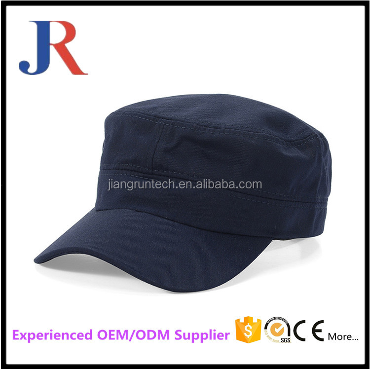 2017 custom high quality plain fitted wholesale military officer cap hats