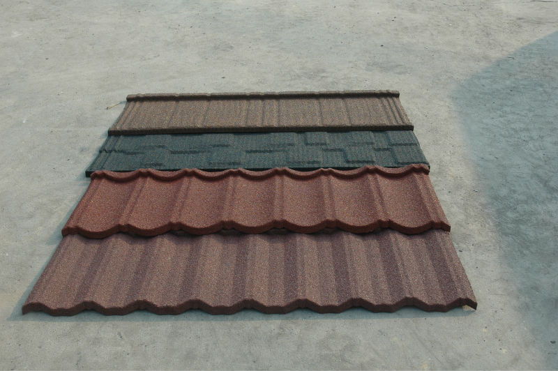 Stone Granule Coated Steel Roof Tile 1340*420