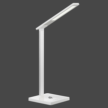 10W Silver Eye Protection Warm Rechargeable Modern Reading Light Desk Lamp With Wireless Charge Function