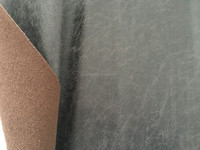 fabric leather with genuine leather composition 35% leather in the product