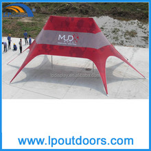Outdoor aluminum frame double peak advertising star tent