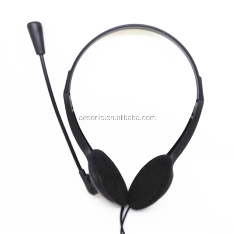 Dongguan Best Selling Black Computer Peripheral Headphones With Mic For Call Center