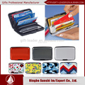 all over imprinted aluminum business card holder