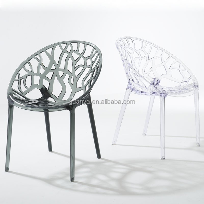funky semi-circle backrest Nilkamal plastic Dining chairs