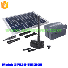 Battery operated fountain pump charged by solar panel (SPB20-501210D)
