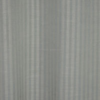 NEW ARRIVAL Vertical stripes 100% Polyester Linen Like Jacquard Curtain fabric
