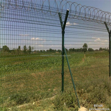 3m Height Welded Airport Fence Top with Razor Barbed Wire