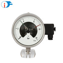 4 Inch Stainless Steel Mpa Bourdon Tube Electric Contact Pressure Gauge