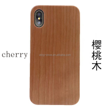 Cherry wooden blank wood phone case for iphone 8,mobile phone accessories