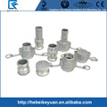 304 316 cnc machining stainless steel threaded pipe fittings, camlock connector, water quick coupling