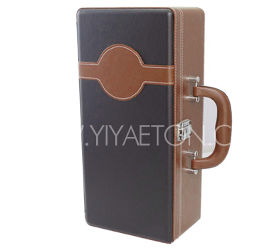 Suitcase Gift Packing Stand Leather Wine Box