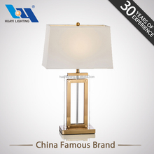 European style White Home Goods Square Crystal Table Lamp