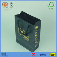 Good Quality Fancy Gold Stamping Hotel Paper Bag With Colorful Design