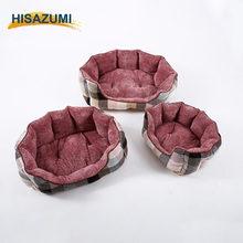 Fashionable warm material pet product round plush dog bed of China suppliers