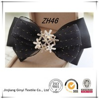 Black Chiffon Ribbon Korean Hair Claw Clip Hair Bow Hair Accessories