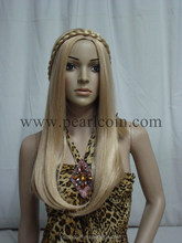 Synthetic 100% Toyokalon Fiber Caucasian Blonde Pre-braided Wig