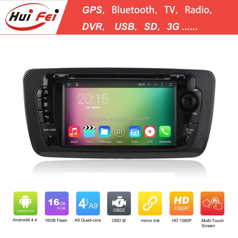 "Capacitive Touch Screen 7""HD Hifi Car Multimedia System Quad-core Audio System For Seat Ibiza"