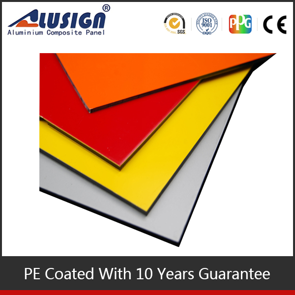 Alusign 2015 new building material products for plastic exterior wall panel