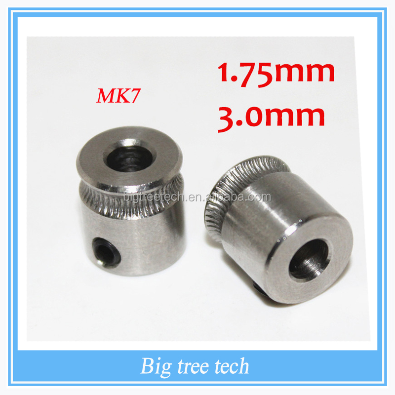 2016 3D Printer MK7 Stainless Steel Extrusion Gear for 1.75mm Filament Extruder