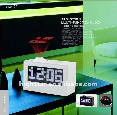 Music LED Projection Alarm Clock