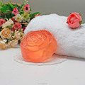 Wholesale rose shape transparent beauty soap