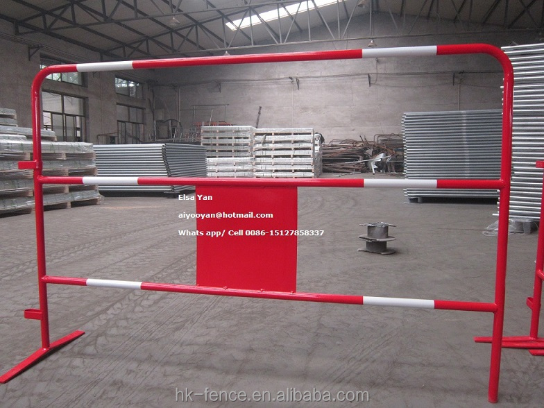 Powder Coated/Galvanized Crowd Barrier for Control Safety,Portable Pipe Crowd Barrier Temporary Fence For Event/Road Security